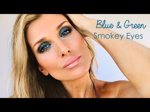 Blue & Green Smokey Eyes