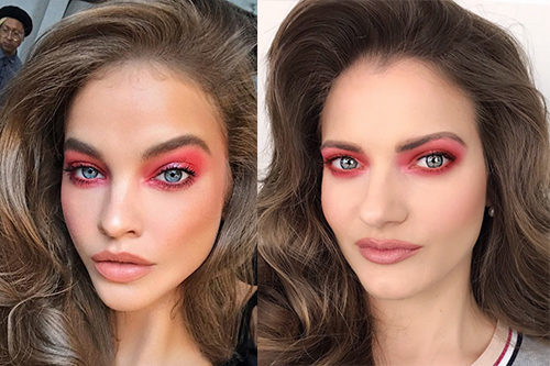 Τα Red Smokey Eyes της Barbara Palvin